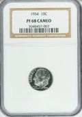 Proof Roosevelt Dimes: , 1954 10C PR68 Cameo NGC. NGC Census: (101/7). PCGS Population(18/1). Numismedia Wsl. Price for NGC/PCGS coin in PR68: $24...