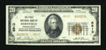 National Bank Notes:Pennsylvania, Bernville, PA - $20 1929 Ty. 2 The First NB Ch. # 8913. ...
