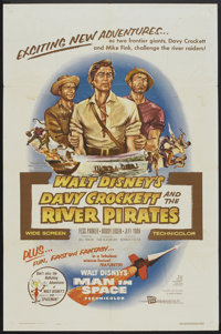 "Davy Crockett and the River Pirates (Buena Vista, 1956). One Sheet (27"" X 41""). Adventure"