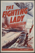 "Movie Posters:War, The Fighting Lady (20th Century Fox, 1944). One Sheet (27"" X 41"").War Documentary.. ..."