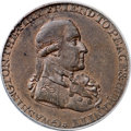 Colonials, 1795 1/2P Washington Grate Halfpenny, Large Buttons, Lettered Edge MS62 Red and Brown PCGS....