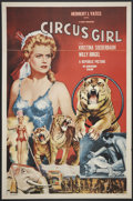 "Movie Posters:Adventure, Circus Girl (Republic, 1956). One Sheet (27"" X 41"") Flat-Folded.Adventure.. ..."