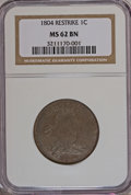 Large Cents, 1804 1C Restrike MS62 Brown NGC....