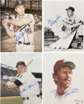 Autographs:Photos, Hall of Fame Sluggers Signed Photographs Lot of 4....