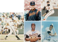 Autographs:Photos, Baltimore Orioles Greats and Will Clark Signed Photographs Lot of5....