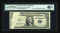 Error Notes:Obstruction Errors, Fr. 1614 $1 1935E Silver Certificate. PMG Extremely Fine 40 EPQ.....