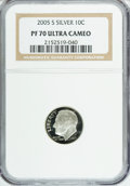 Proof Roosevelt Dimes, 2005-S 10C Silver PR70 Ultra Cameo NGC. PCGS Population (101/0).Numismedia Wsl. Price for NGC/PCGS coi...