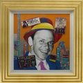 Movie/TV Memorabilia:Original Art, Frank Sinatra Portrait by Nelson De La Nuez....