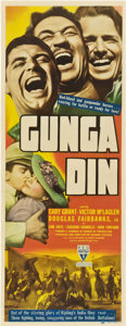 "Movie Posters:Action, Gunga Din (RKO, 1939). Insert (14"" X 36"").. ..."