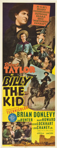 "Movie Posters:Western, Billy the Kid (MGM, 1941). Insert (14"" X 36"").. ..."