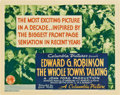 "Movie Posters:Comedy, The Whole Town's Talking (Columbia, 1935). Title Lobby Card (11"" X14"").. ..."