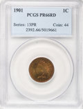 Proof Indian Cents, 1901 1C PR66 Red PCGS....