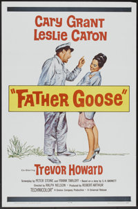"""Father Goose (Universal, 1965). One Sheet (27"""" X 41""""), Lobby Card Set of 8 and one card (11"""" x 14"""")..."""