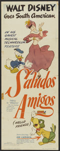 "Movie Posters:Animated, Saludos Amigos (RKO, 1943). Insert (14"" X 36""). Animated.. ..."