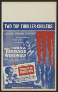 """Movie Posters:Horror, I was a Teenage Werewolf/Invasion of the Saucer-Men Combo (American International, 1957). Window Card (14"""" X 22""""). Horror.. ..."""