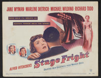 """Stage Fright (Warner Brothers, 1950). Lobby Card Set of 8 (11"""" X 14""""). Hitchcock. ... (Total: 8 Items)"""