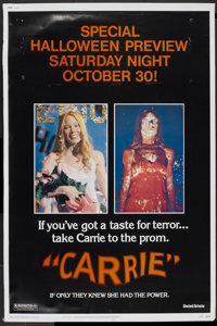 """Carrie (United Artists, 1976). Poster (40"""" X 60""""). Horror"""