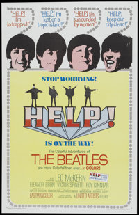 """Help! (United Artists, 1965). One Sheet (27"""" X 41""""). Rock and Roll"""