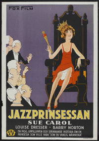 """The Exalted Flapper (Fox, 1929). Swedish One Sheet (27.5"""" X 39.5""""). Comedy"""
