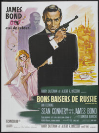 """From Russia with Love (United Artists, R-1984). French Grande (46"""" X 63""""). James Bond"""