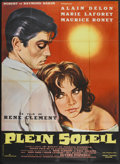 "Movie Posters:Crime, Plein Soleil (Titanus Distributors, 1960). French Grande (45"" X62""). Crime.. ..."