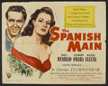 """Movie Posters:Adventure, The Spanish Main (RKO, 1945). Half Sheet (22"""" X 28"""") and Lobby CardSet of 8 (11"""" X 14""""). Adventure.. ... (Total: 9 Item)"""