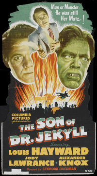 """The Son of Dr. Jekyll (Columbia, 1951). Standee (32.5"""" x 59""""). Horror"""