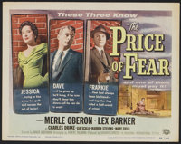 """The Price of Fear (Universal International, 1956). Lobby Card Set of 8 (11"""" X 14""""). Film Noir. ... (Total: 8 I..."""