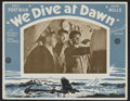"""Movie Posters:War, We Dive at Dawn (GFD, 1943). Australian Lobby Cards (7) (11"""" X14""""). War.. ... (Total: 8 Items)"""