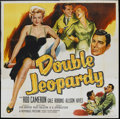 "Movie Posters:Thriller, Double Jeopardy (Republic, 1955). Six Sheet (81"" X 81""). Thriller.. ..."
