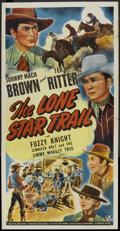 """Movie Posters:Western, The Lone Star Trail (Universal, 1943). Three Sheet (41"""" X 81"""").Western.. ..."""