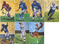 Football Collectibles:Others, 1989 Hall of Fame Goal Line Art Series One Group Lot of 24, Signed by 18....