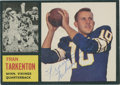 Football Collectibles:Others, Fran Tarkenton Signed Card....
