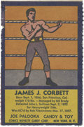 Boxing Cards:General, Very Rare 1950's R437 Comics Novelty & Candy Co. James J.Corbett. ...