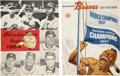 Baseball Collectibles:Publications, 1958-64 Milwaukee Braves Official Yearbooks Lot of 2....