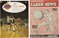 Basketball Collectibles:Programs, 1952-67 Los Angeles/Minneapolis Lakers Official Yearbooks Lot of2....