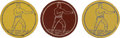 Boxing Collectibles:Memorabilia, Early 20th Century Boxing Game Chips Trio (3). ...