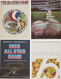 Autographs:Others, 1968-75 Signed All-Star Game Programs Lot of 3, 1 Unsigned....