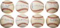 Autographs:Baseballs, Negro League Stars Single Signed Baseballs Lot of 8....