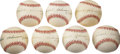 Autographs:Baseballs, Rachel Robinson Single Signed Baseballs Lot of 7....