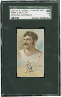 """Boxing Cards:General, 1887 N184 W.S. Kimball """"Champions"""" S. Muller SGC 40 VG 3...."""