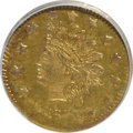 California Fractional Gold: , 1873 50C Indian Round 50 Cents, BG-1051, Low R.5, MS64 ProoflikeNGC. NGC Census: (3/0). (#710880)...