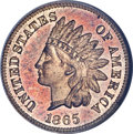Proof Indian Cents, 1865 1C PR65 Red Cameo NGC....
