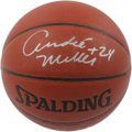 Basketball Collectibles:Balls, Andre Miller Single Signed Basketball. Miller, a true iron man, hasplayed in 366 consecutive games, the second longest act...