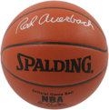 Basketball Collectibles:Balls, Red Auerbach Single Signed Basketball. The orchestrator of the legendary Boston Celtics dynasty is represented here by a 10...