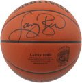 Basketball Collectibles:Balls, 1998 Larry Bird Signed Hall of Fame Induction Basketball. TheIndiana country boy who changed the face of pro hoops Larry B...