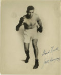 """Boxing Collectibles:Autographs, Jack Dempsey Signed Photograph. Classically captured for the provided 8x10"""" photo, the epic puncher Jack Dempsey symbolical..."""