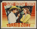 "Movie Posters:Adventure, Torrid Zone (Warner Brothers, 1940). Lobby Card (11"" X 14"").Adventure. Starring James Cagney, Ann Sheridan, Pat O'Brien, An..."