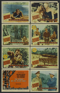 "The Bridge On The River Kwai (Columbia, 1958). Lobby Card Set of 8 (11"" X 14""). War. Starring William Holden..."