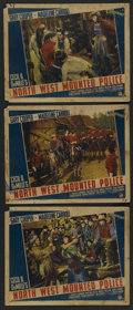 "Movie Posters:Adventure, North West Mounted Police (Paramount, 1940). Lobby Cards (3) (11"" X14""). Adventure. Starring Gary Cooper, Paulette Goddard,... (Total:3)"